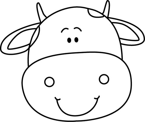 500x421 Cow Clipart Template