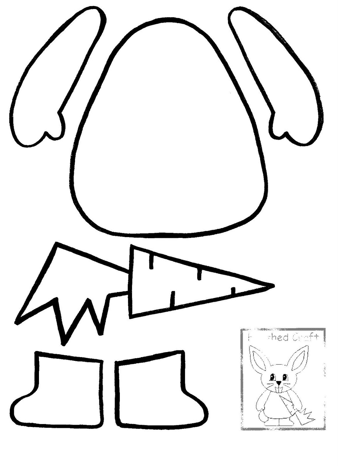 1162x1600 Excellent Bunny Ears Template In Unthinkable Easter Bunny Outline