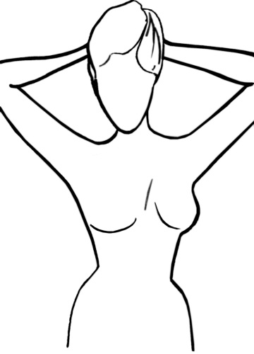 360x500 Female Body Outline