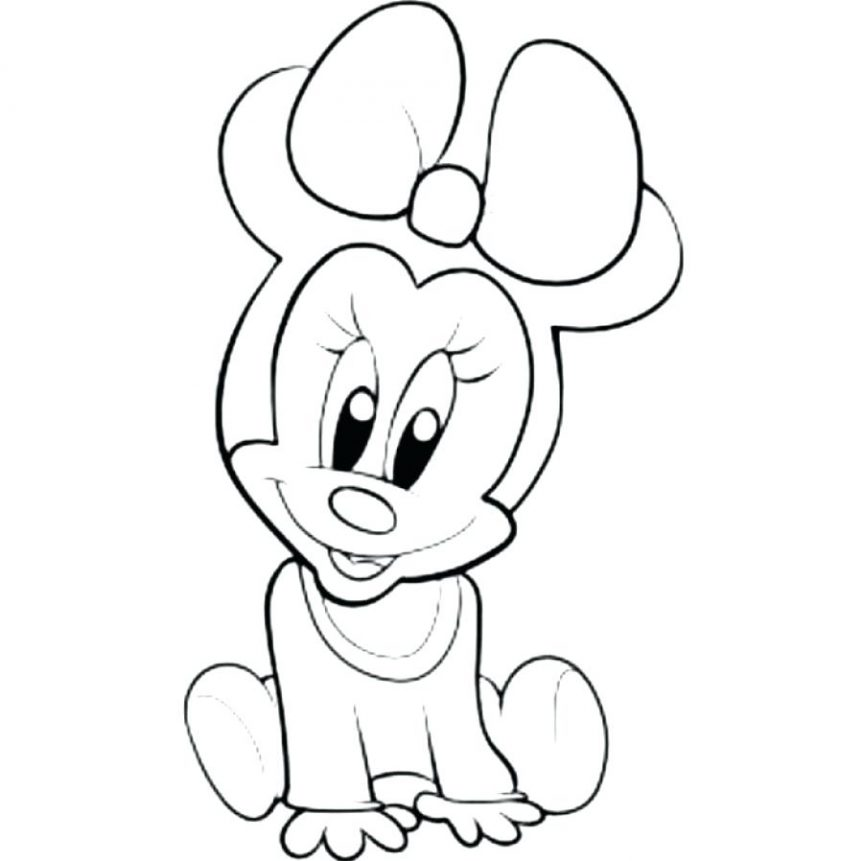 863x861 Mickey Mouse Outline Drawing Para Y Large Head Template Vector