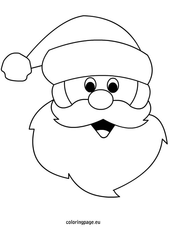 595x804 Santa Outline Santa Claus Template Merry Christmas Amp Happy New