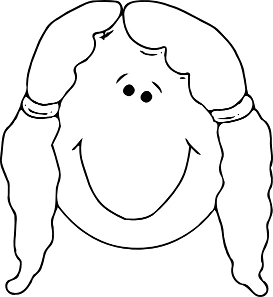 546x595 Outline Of Face Clipart