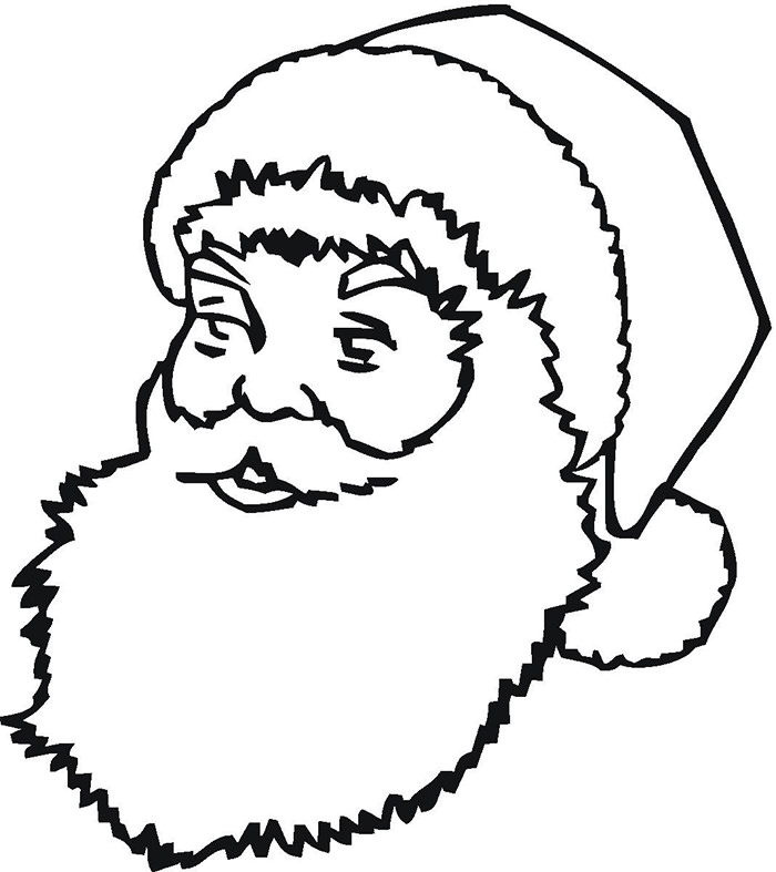 700x787 Best Santa Templates Shapes, Crafts Amp Colouring Pages Free