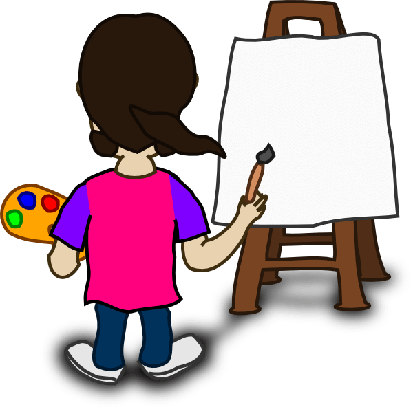 600x592 Painting Cartoon Cliparts 242301