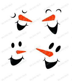 236x265 Snowman Faces Svg
