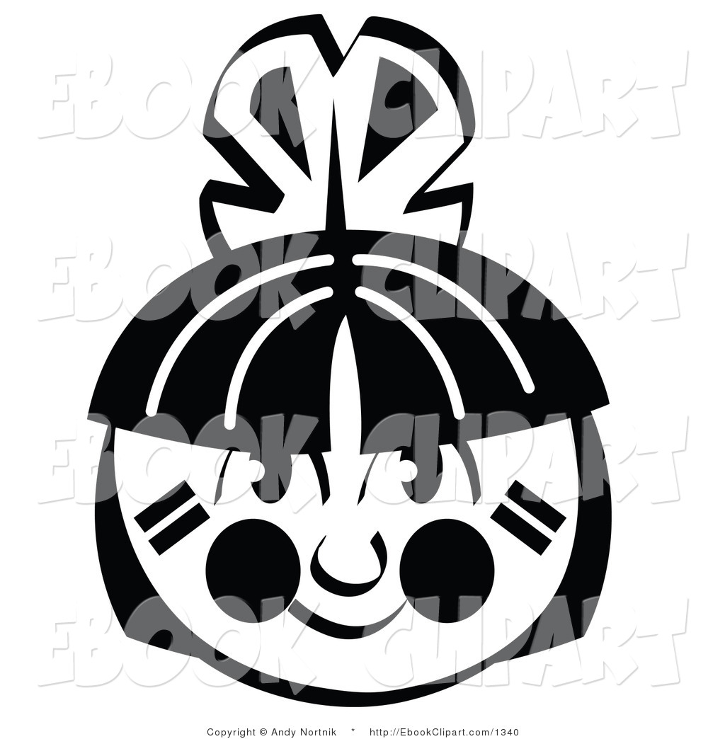 1024x1044 Vector Clip Art Of A Black And White American Indian Boy's Face