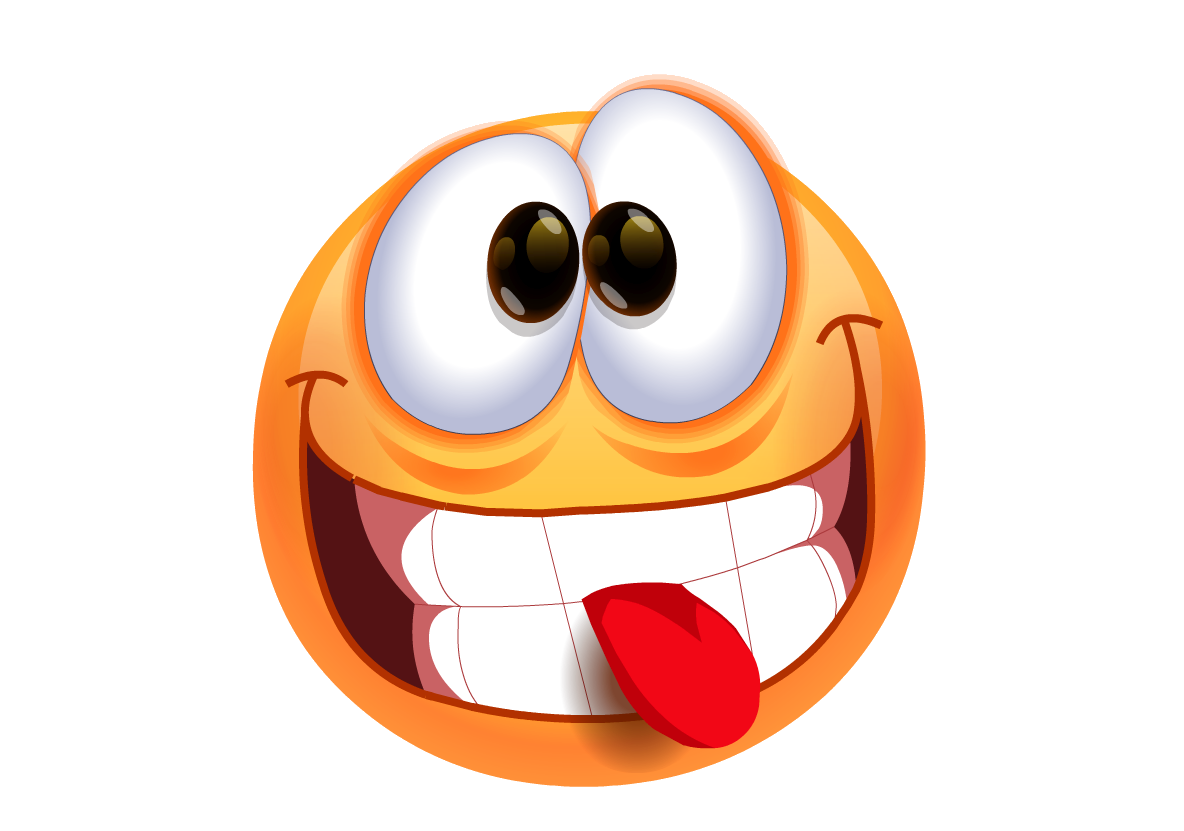 1184x831 Smiley Face With Tongue Out Clipart