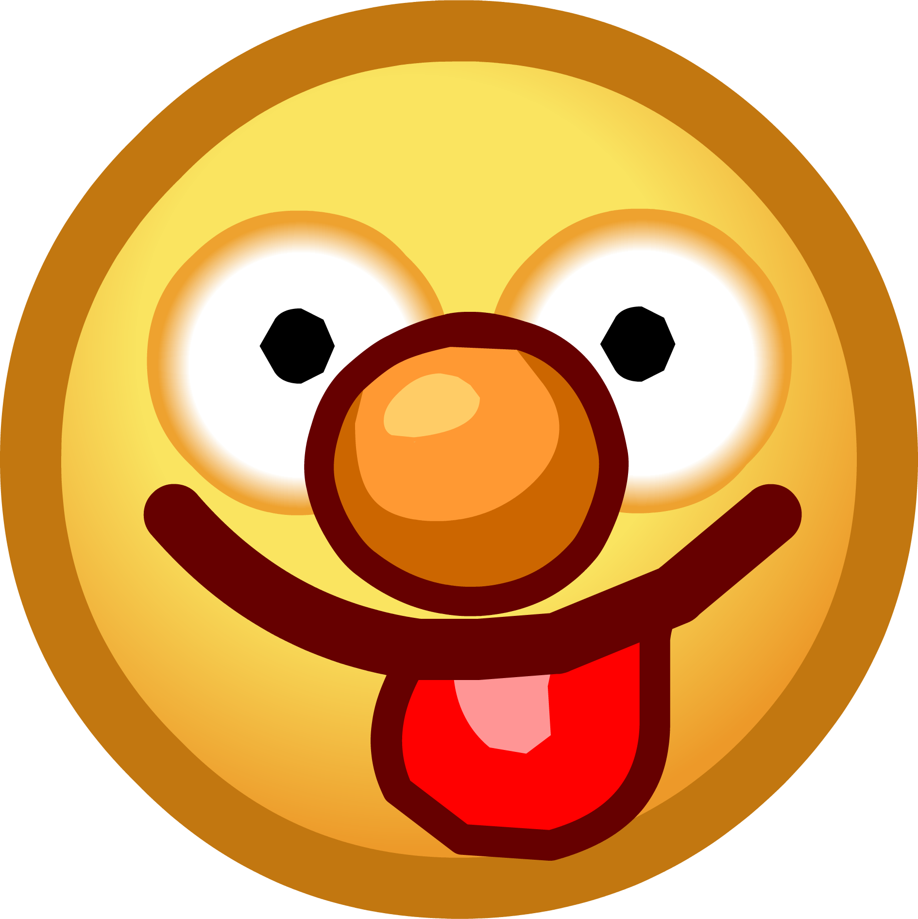 1890x1892 Smiley Face With Tongue Out Clipart