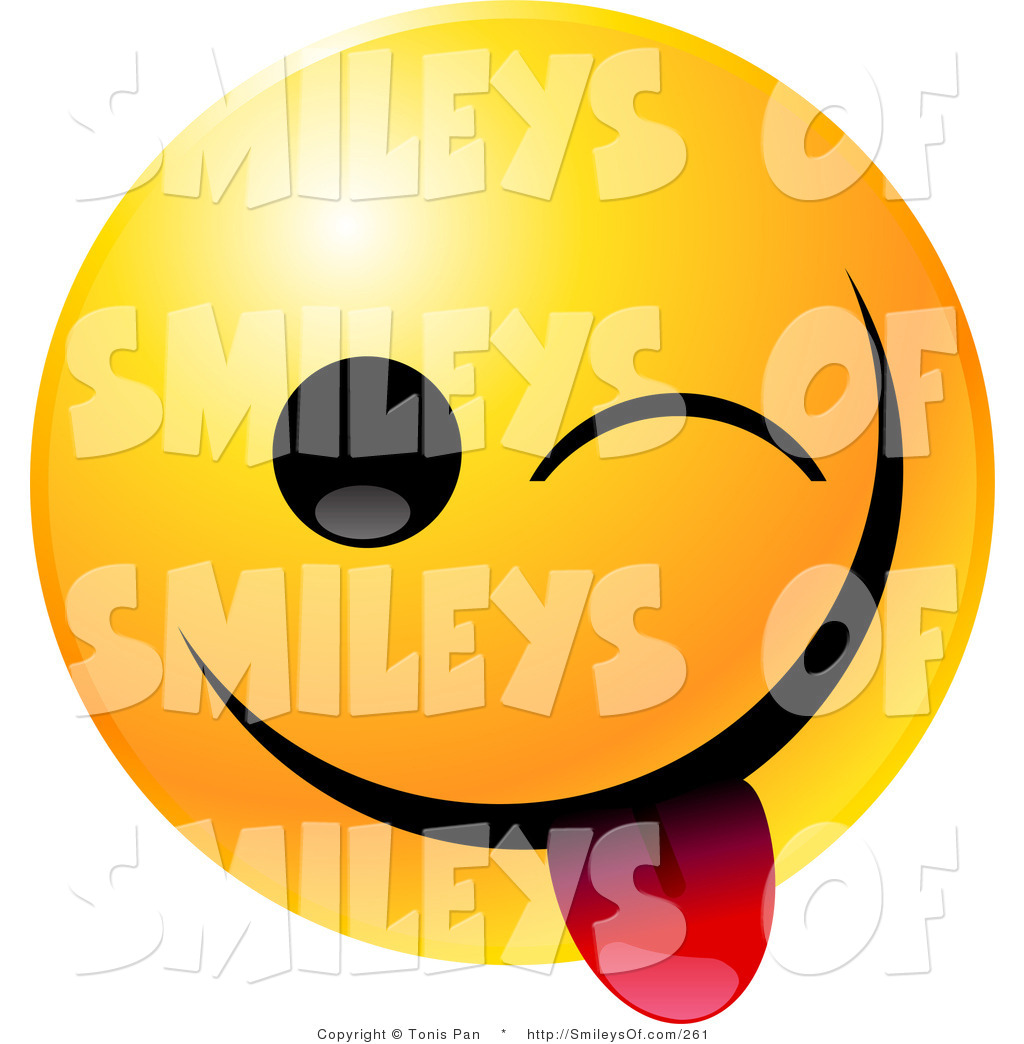 1024x1044 Vector Of A Yellow Emoticon Smiley Face Teasing, Winking