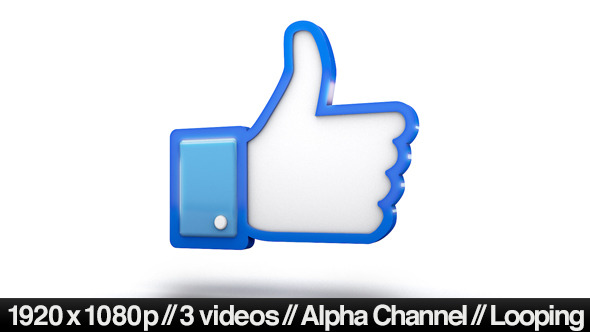 590x332 Facebook 3d Thumbs Up Like Icon By Butlerm Videohive