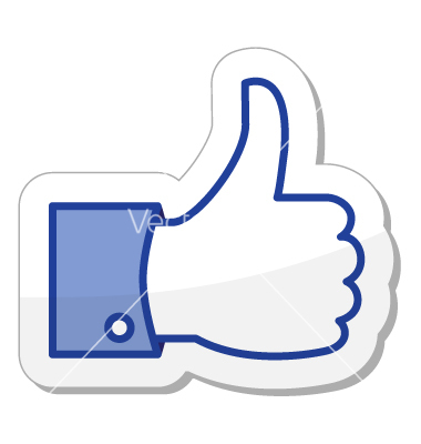380x400 Facebook Like Icon Clipart