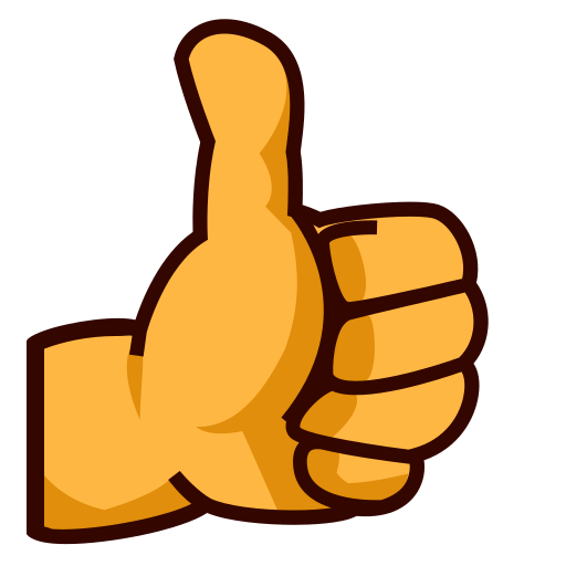 512x512 Thumbs Up Sign Emoji For Facebook, Email Amp Sms Id  12299
