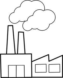 244x300 Factory Clipart Outline
