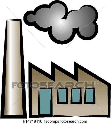 421x470 Clip Art Of Factory Icon K14718416