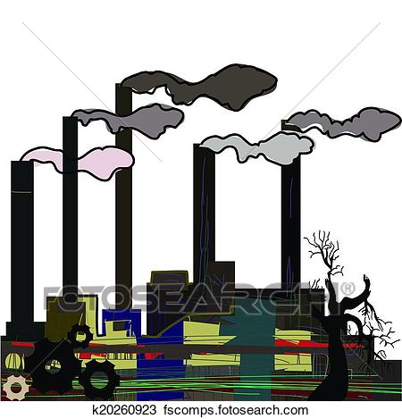 450x469 Clipart Of Factory. Industrial Building Factory, Smoke