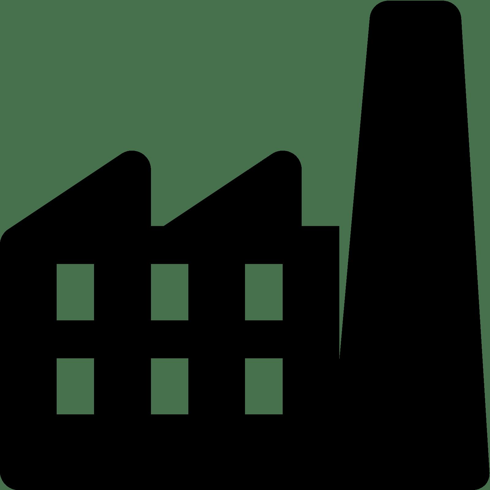 1600x1600 Factory Clipart Transparent Building