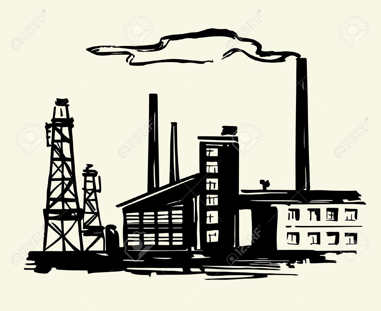 1300x1061 Industrial Site Clipart