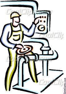 213x300 Factory Worker Vector Clip Art