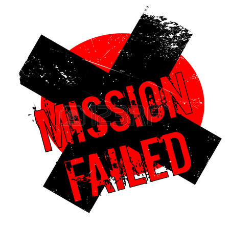 450x450 Mission Failed Rubber Stamp. Grunge Design With Dust Scratches