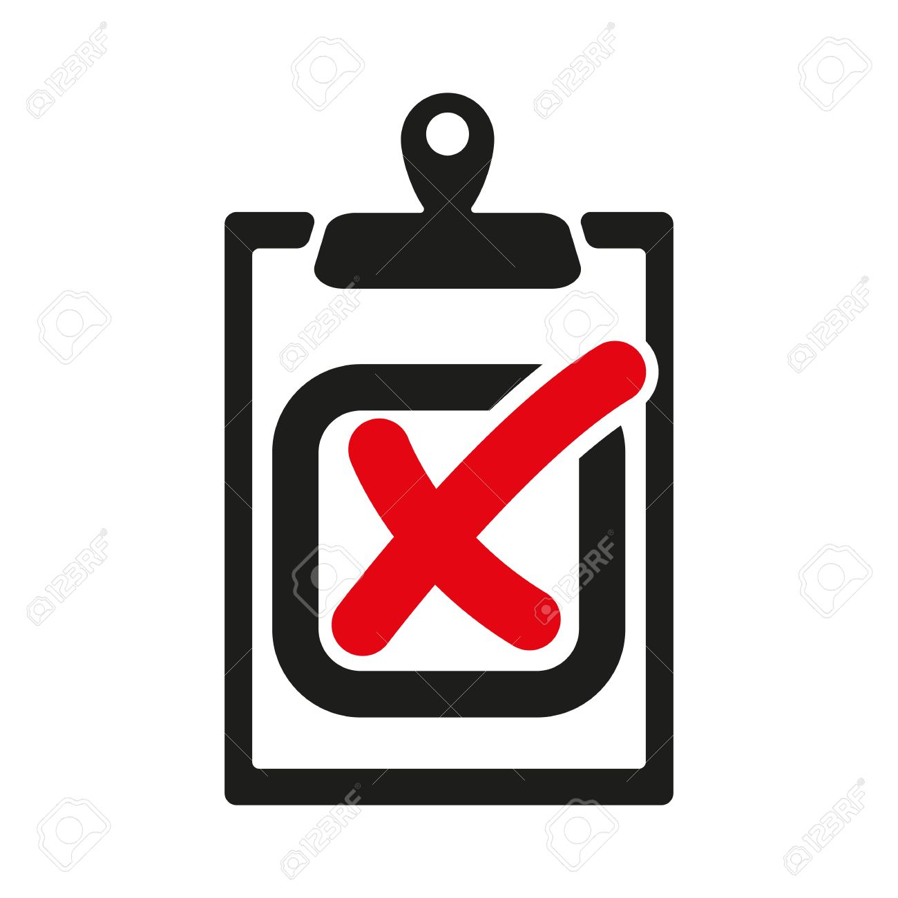 1300x1300 The Checklist Icon. Clipboard And Failed Task, Wrong Answer Symbol