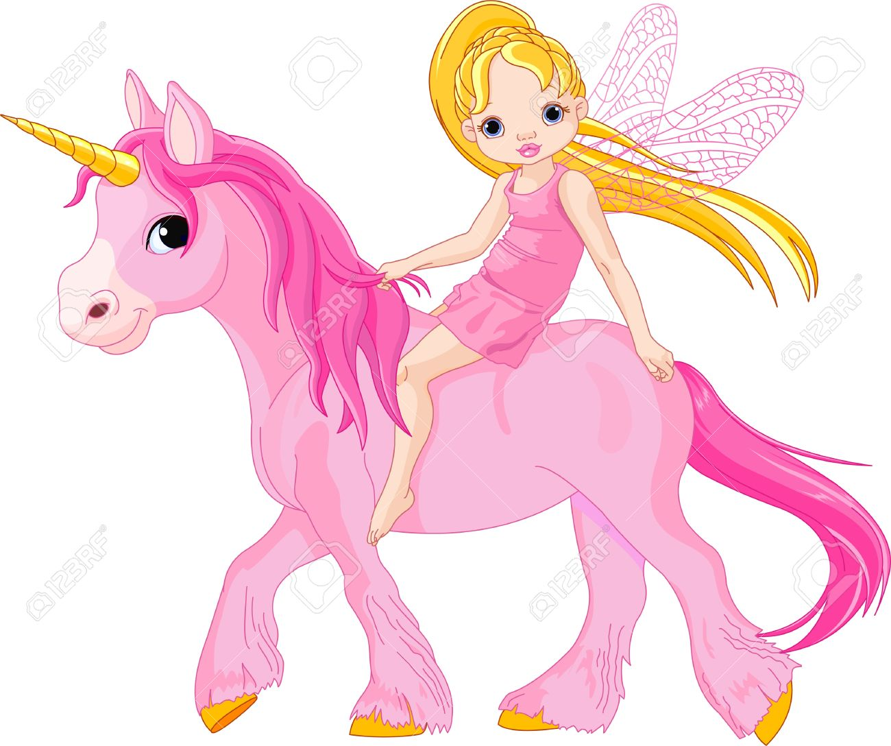1300x1088 Cute Little Fairy Riding On A Unicorn Royalty Free Cliparts