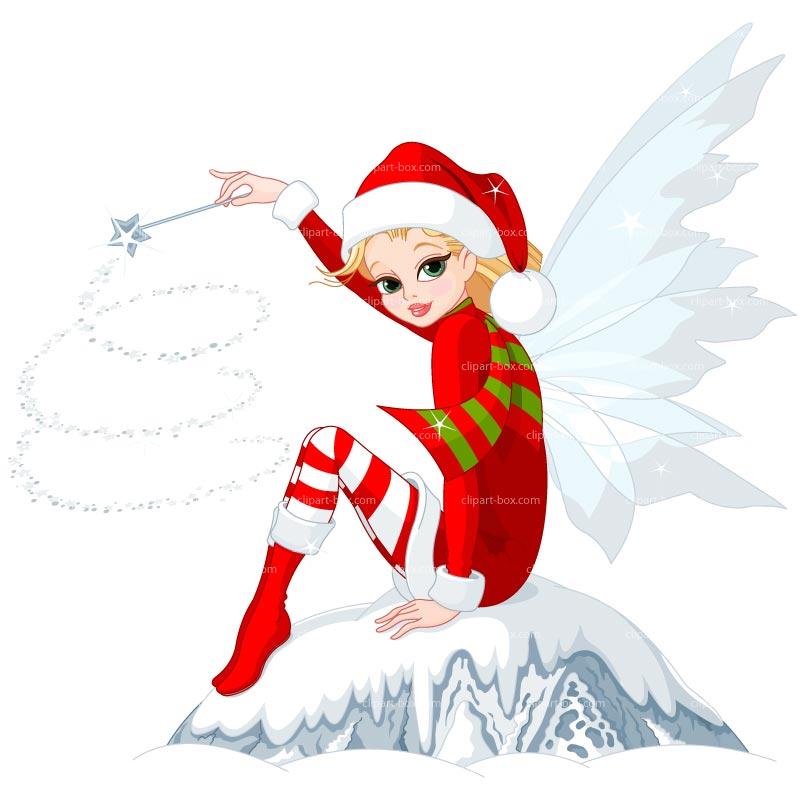 800x800 Christmas Fairy Clipart