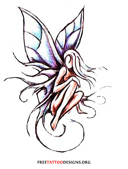 447x590 Fairy Tattoos Cute, Evil, Small Fairy Tattoo Designs And Ideas