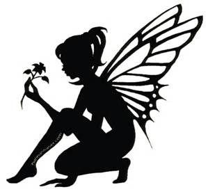 299x279 The Best Fairy Silhouette Ideas Fairy Stencil