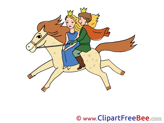 650x487 Riding Horse Prince Princess Printable Fairy Tale Images
