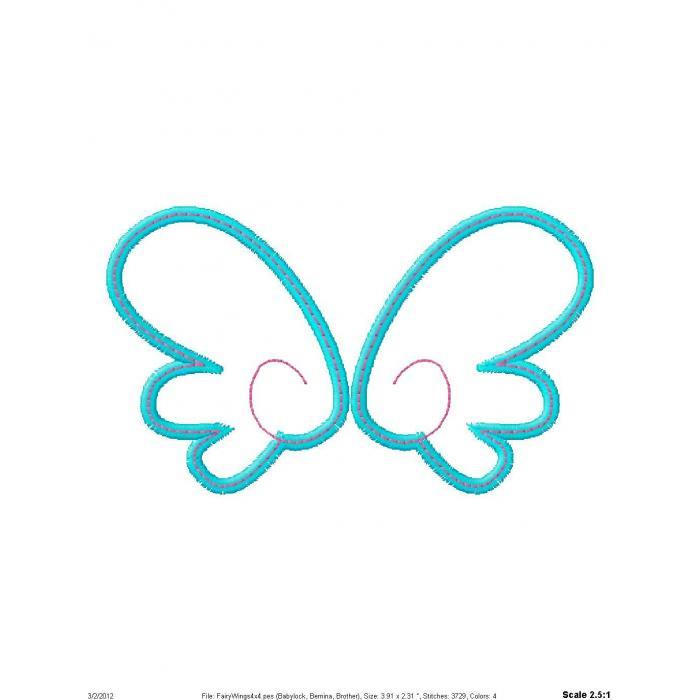 700x700 Fairy Wings Applique Designs