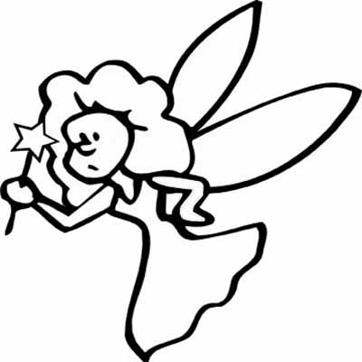 400x400 Fairy Clipart Outline Drawing