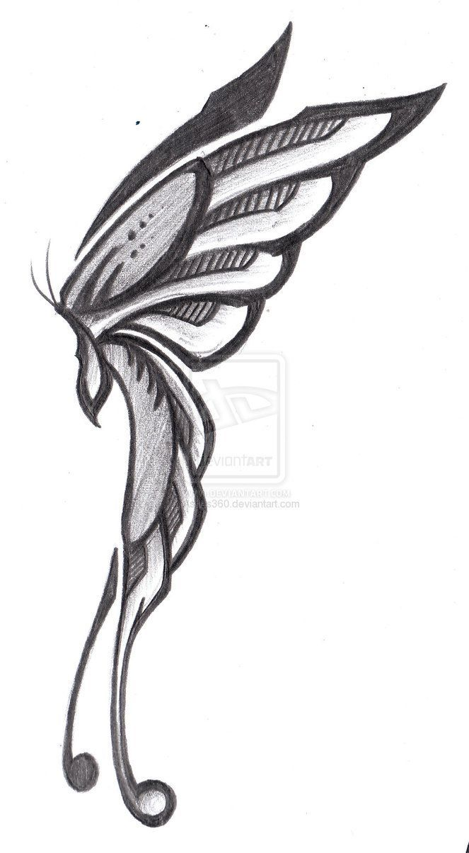 663x1204 Fairy Wings Drawing Side View