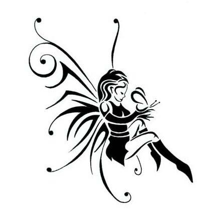435x435 Fairy Tattoos Stencils