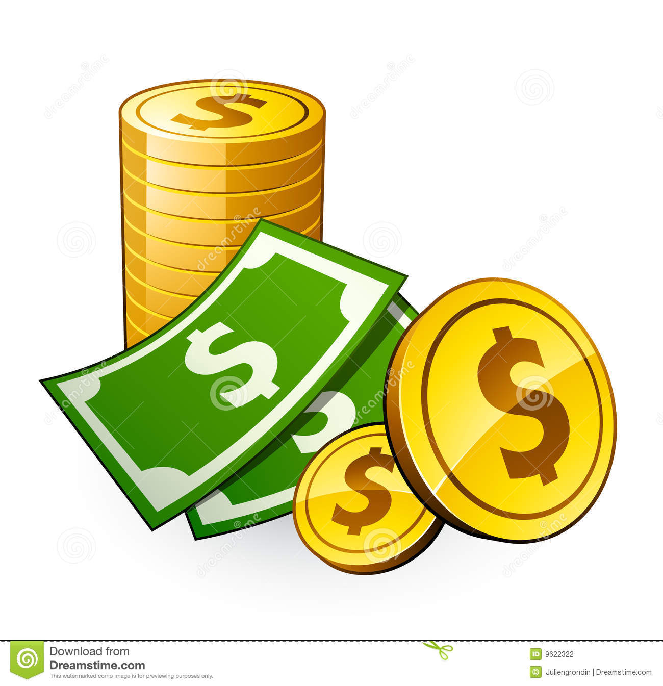 1300x1345 Free Clipart Dollar Coins