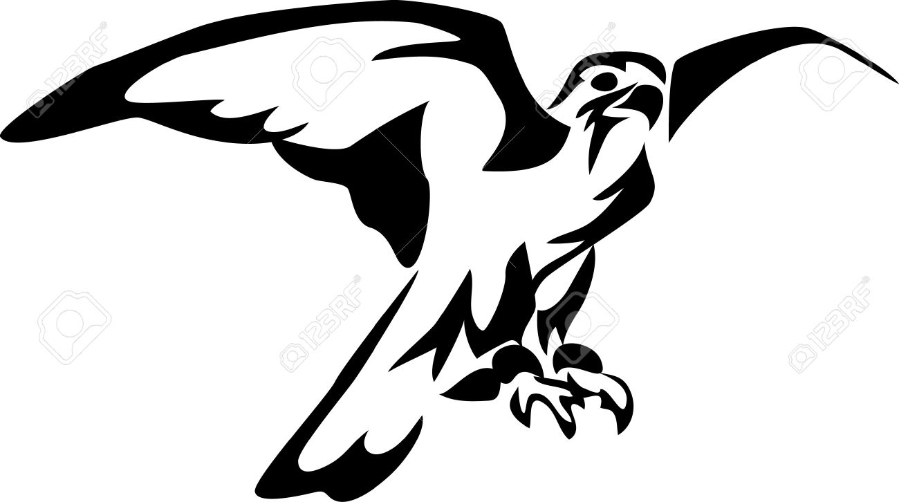 1300x726 Bird Of Prey Clipart White Falcon