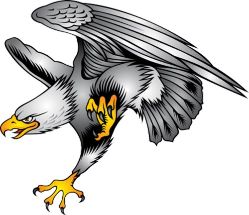 500x432 Eagle Clip Art Head On In Flight Wings Up Free