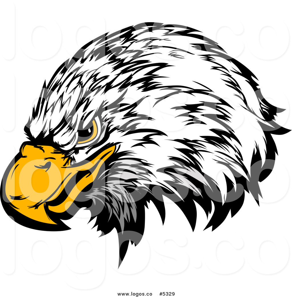 1024x1044 Royalty Free Vector Of A Logo Of A Fierce Bald Eagle Head Mascot