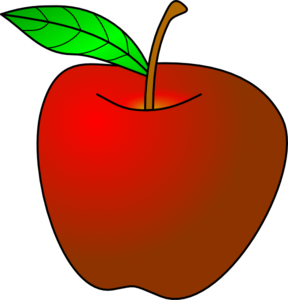 288x300 Apple Turned Slightly Clip Art