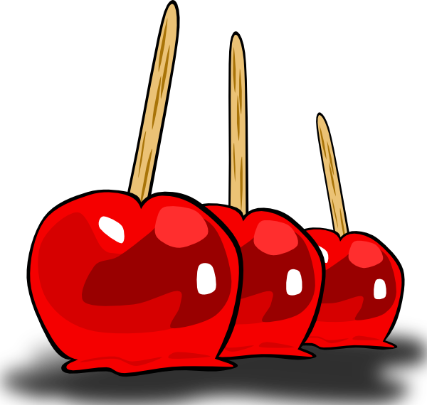 600x570 Candied Apples Clip Art
