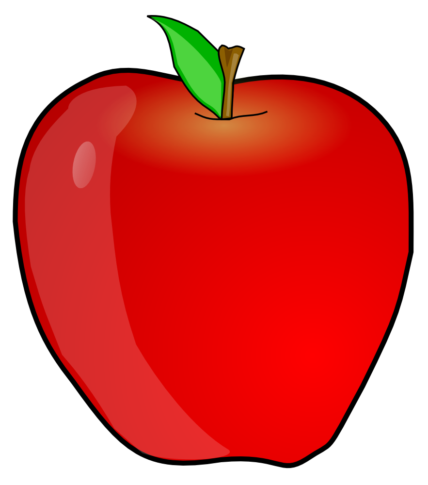 883x1000 Clip Art Apple