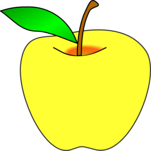300x300 Yellow Apple Clip Art