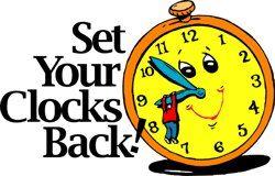 250x160 Clocks Back Clipart