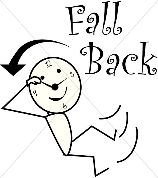 542x612 Fall Back Clipart