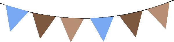 600x147 Brown Clipart Flag Banner