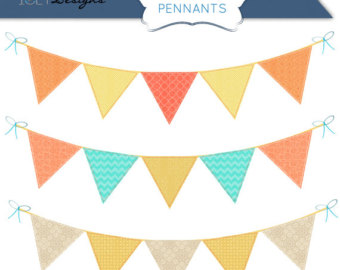 340x270 Bunting Clipart Triangle Banner