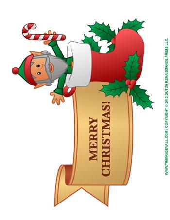 350x453 Christmas Banner Clip Art