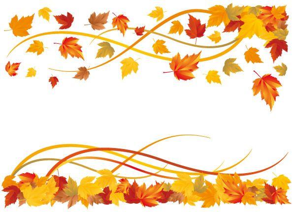 595x431 Fall Leaves Banner Clip Art