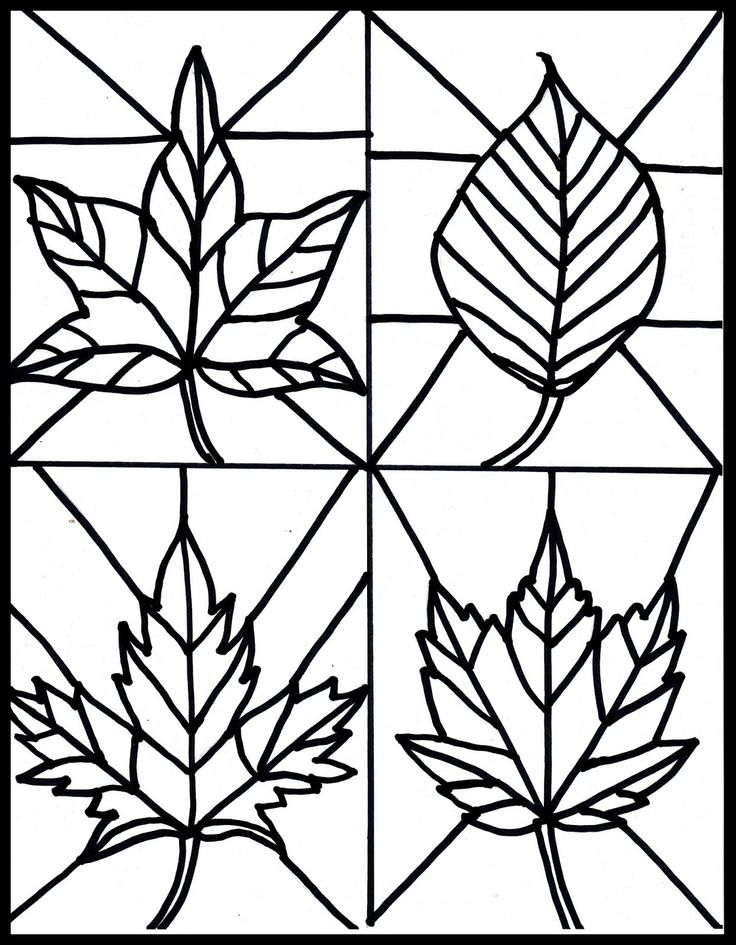736x945 Fall Leaves Clip Art Black And White