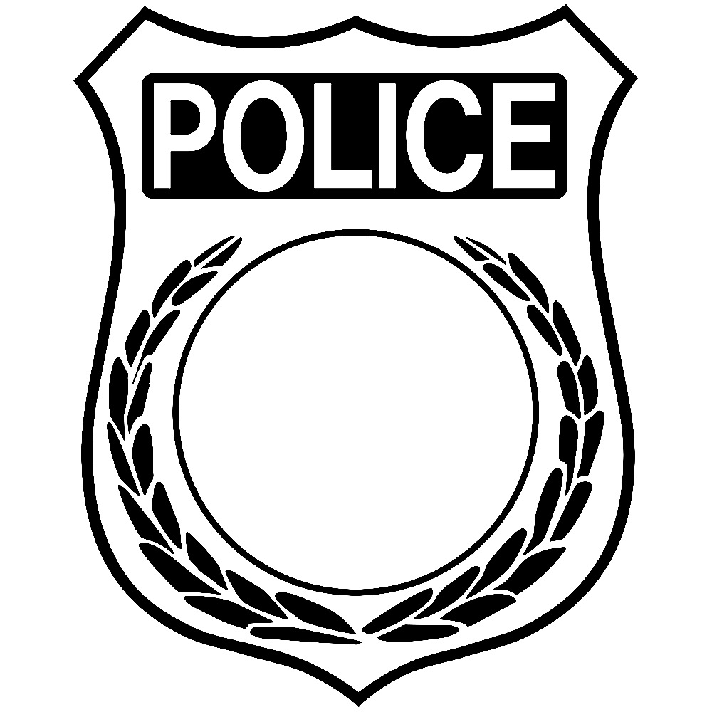 1000x1000 Security Badge Black And White Clipart