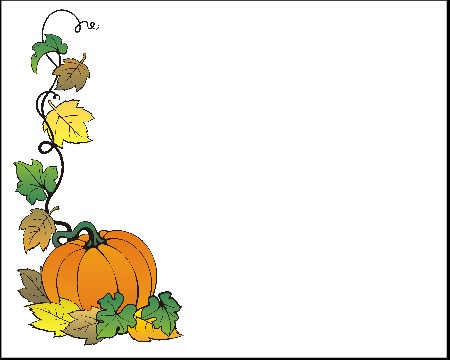 450x360 Fall Pumpkin Borders Clipart